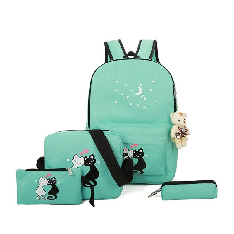 Hot Sale Korean Fashion Cute Cartoon School Bags For Girls Children Canvas Schoolbag Kids Backpack Large Capacity Backpacks