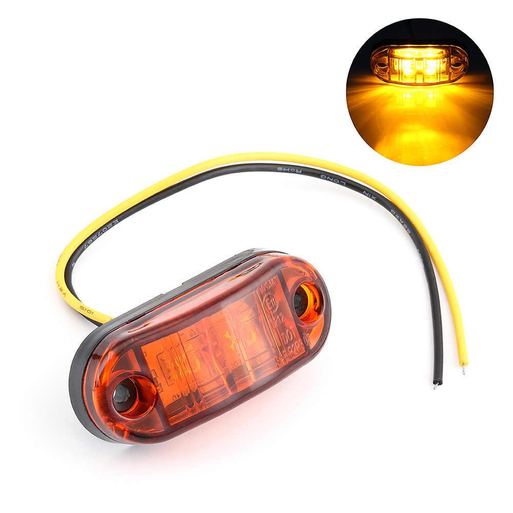ISincer عمود إضاءة led ضوء عمل مُضاء للطرق الوعرة 12V 24V الجبهة الجانب ماركر ضوء موقف صندوق مقطورة الجانب أضواء الجانب مصباح