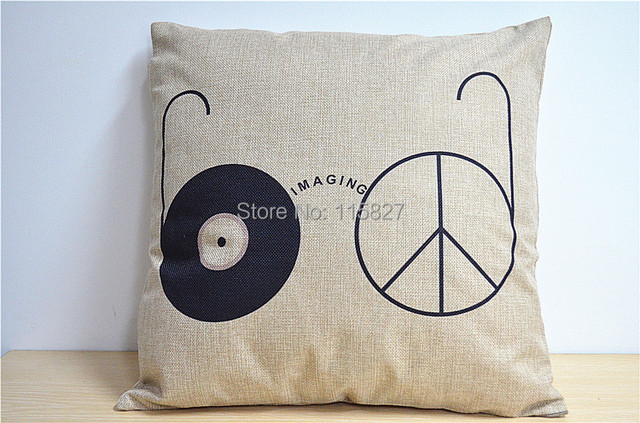 Easy Imaging Draw Linen Chair Cushion 2pc/lot High Quality Cushion Cover