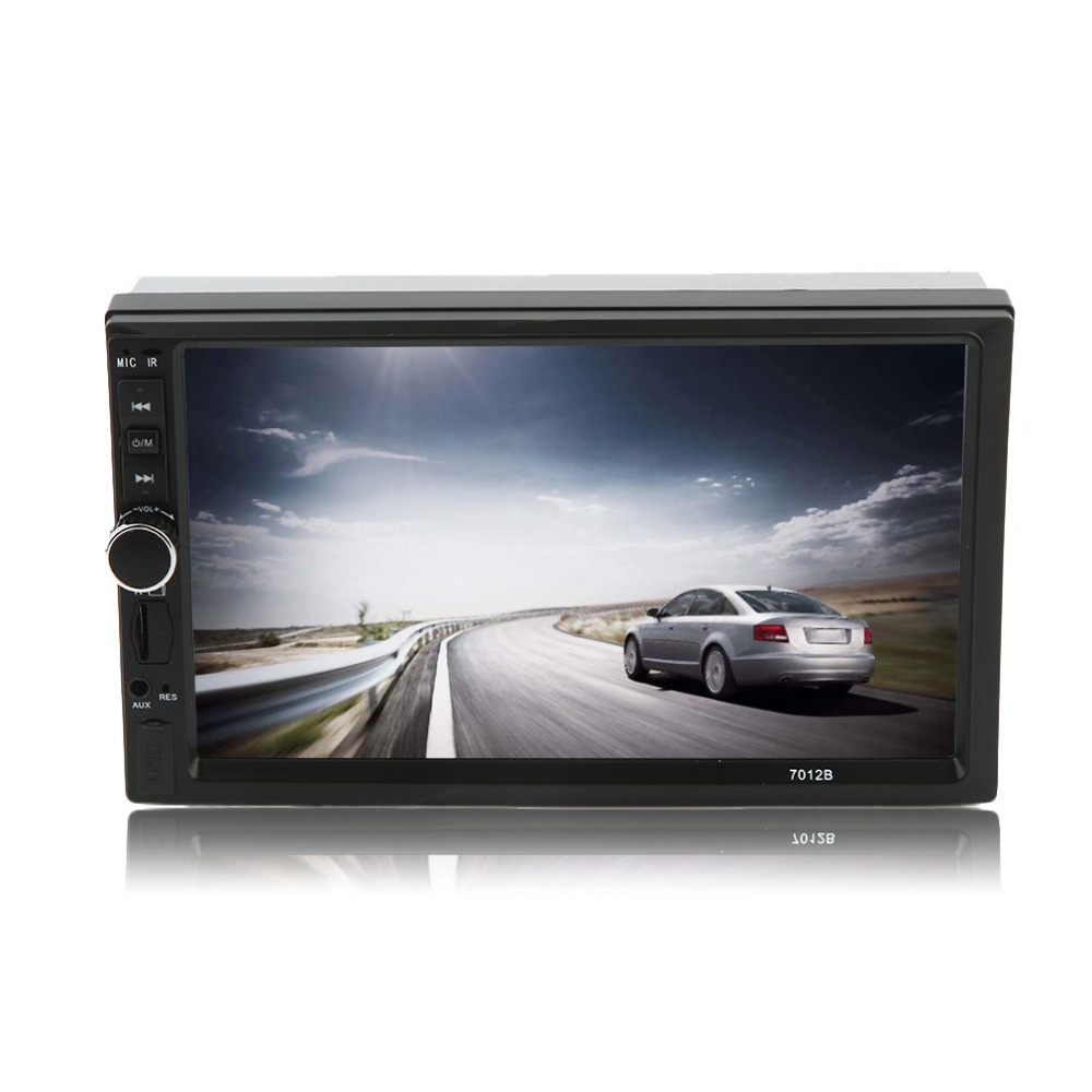 Newest 7 Inch Car Vehicle FM/MP5 Radio Player Large HD Touch Screen Bluetooth Auto Rear View Camera Input Hot Drop Shipping 7026tm 7 inch 800 480 double din hd bluetooth auto car radio mp5 player touch screen design tf fm aux input rear view camera set
