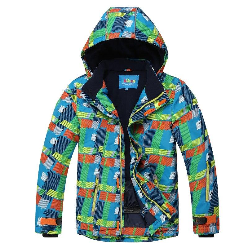 Phibee Waterproof Boys  8011 Ski Jacket  Kids Thick Ski Jacket Windproof Snowboard  Jacket -30 Degree phibee girls ski jacket windproof waterproof kids ski jacket 8015 free shipping