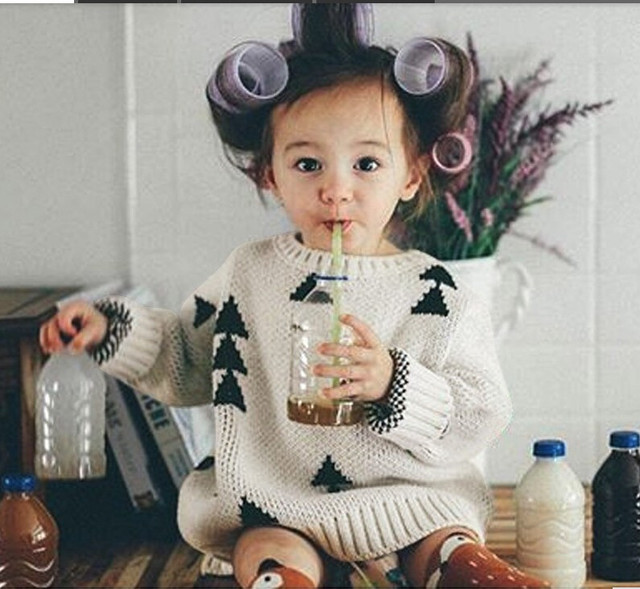 Ins Hot Christmas Kids Winter Sweaters Same Bobo Fashion Tops Autumn