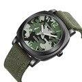 Mens Relógios Top marca de Luxo Da Marca Homens Esportes Relógios de Quartzo Cinta de Lona Militar Camuflagem Relógio de Pulso relogio masculino