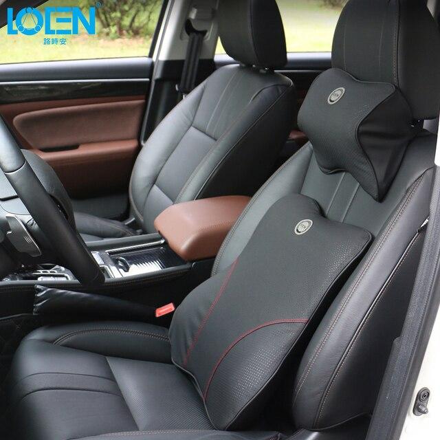 LOEN Memory Foam Car Headrest Lumbar Support Automotive Seat Neck Pillow Waist Suits