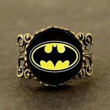 Anime 2017 US Movie Batman Ring Women Drama Gotham superhero men 1pcs/lot drop shipping Dr Who Jewelry charms girl friends gift
