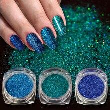 1pcs Holographic Nail Powder Laser Glitter Decoration DIY Shimmer Dust Chrome Pigment Sparkly Nail Art Sequin Paillette JIL01-16