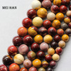 Free Shipping 2 Strands Set Natural 10mm Moukaite Round Mix Gem Stone Loose Beads Min Order