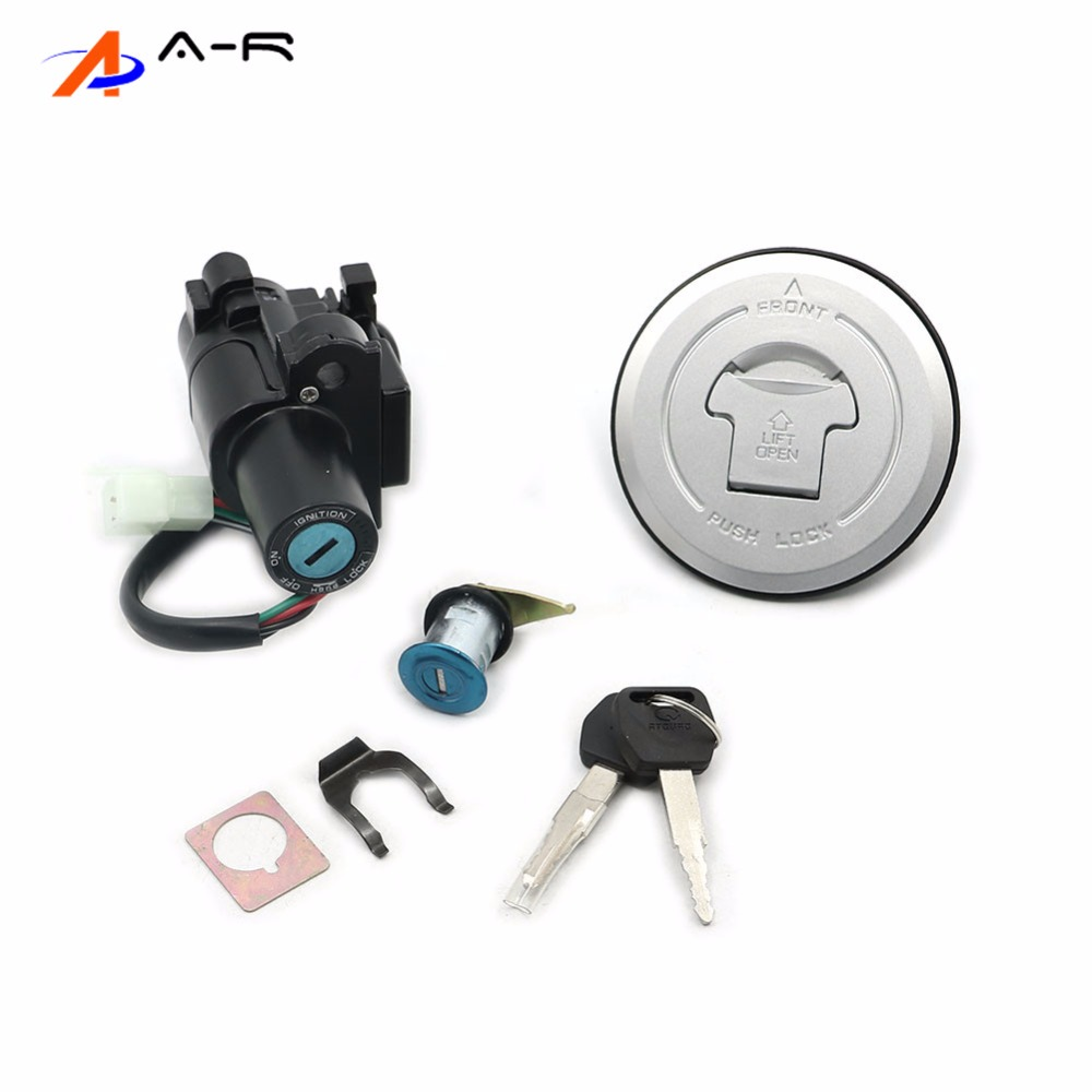 12V 4 Wires Ignition Switch Seat Lock Petrol Oil Fuel Tank Gas Cap Cover Key for
