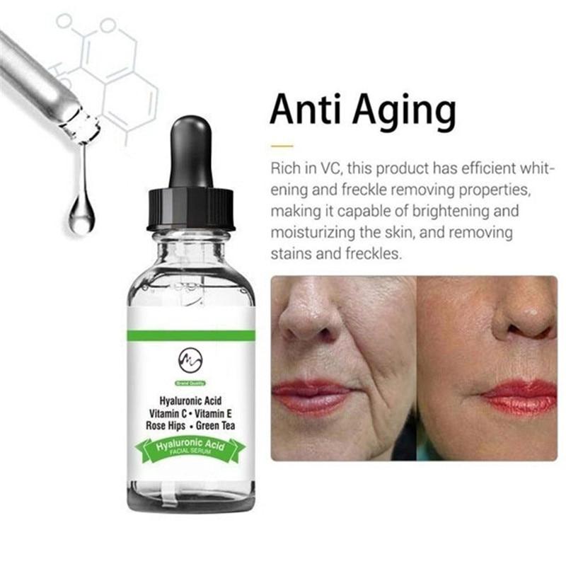 Гиалуроновая кислота увлажняющая сыворотка увлажняющий крем для восстановления кожи лица Лечение Отбеливание прыщей против старения уход за кожей 10 мл