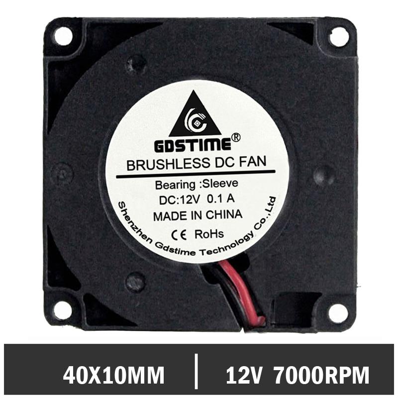 50 pcs lot Gdstime Turbo Blower Cooling Fan 40MM 4010 12V 40 x 40 x 10mm