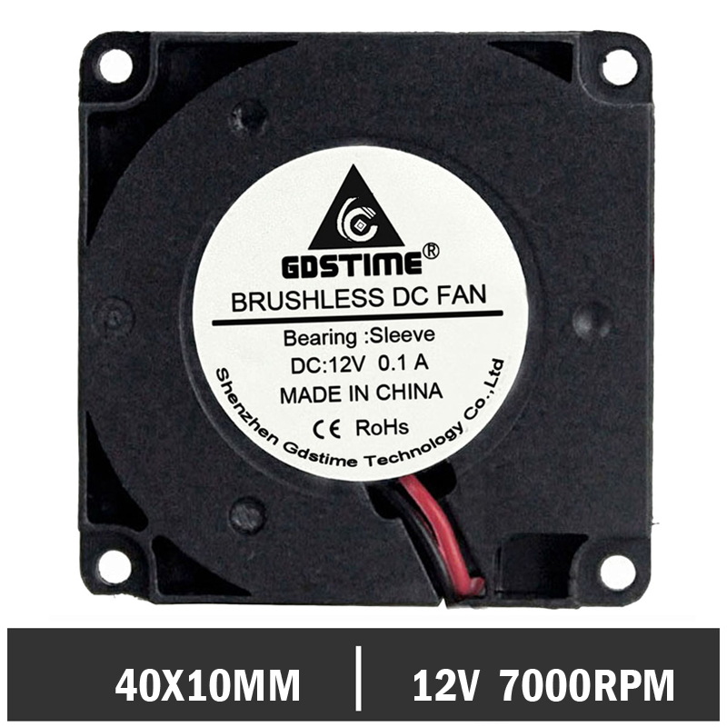 50 pcs/lot Gdstime Turbo Blower Cooling Fan 40MM 4010 12V 40 x 40 x 10mm for 3D Printer-in Fans & Cooling from Computer & Office    1