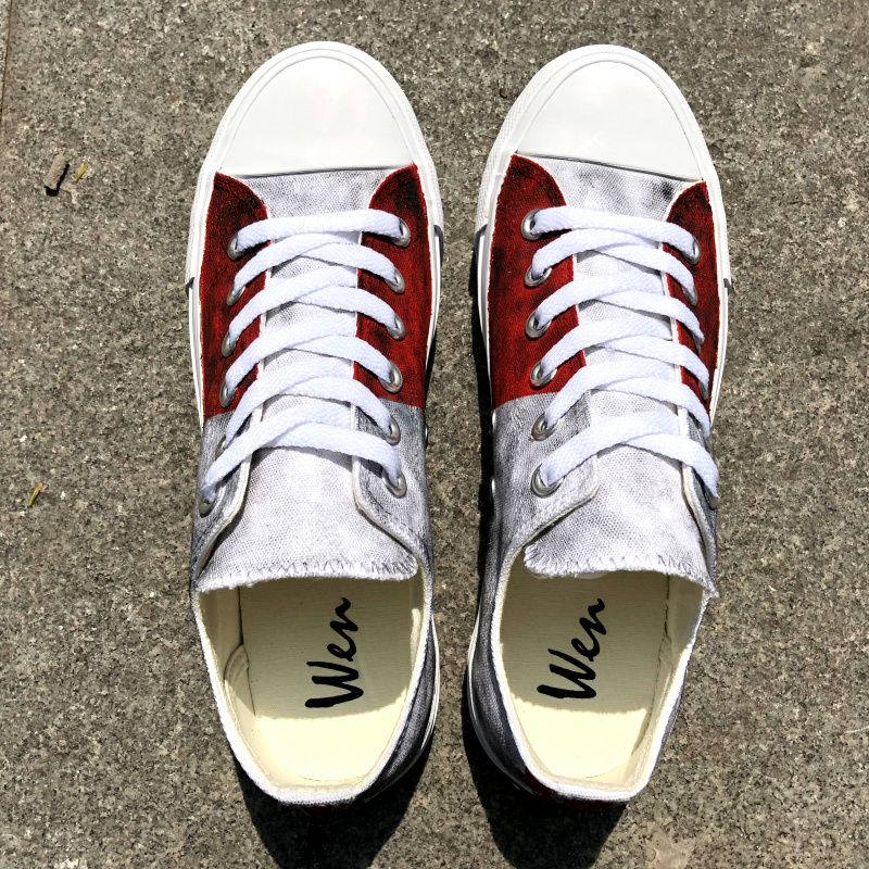 Classic Sneakers Unisex Adults Low-Top Trainers Skate Shoes Artistic Mondrian Style