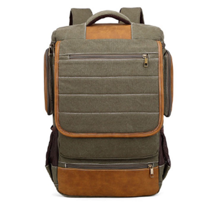 New Style Mens Canvas Backpack Fashion College Student Bag For Teenagers Male Laptop Mochila Casual Travel Rucksacks ArmyGreenNew Style Mens Canvas Backpack Fashion College Student Bag For Teenagers Male Laptop Mochila Casual Travel Rucksacks ArmyGreen