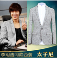 Free shipping Upscale yet casual wool woolen suit suits men Slim stylish minimalist atmosphere S-3XL