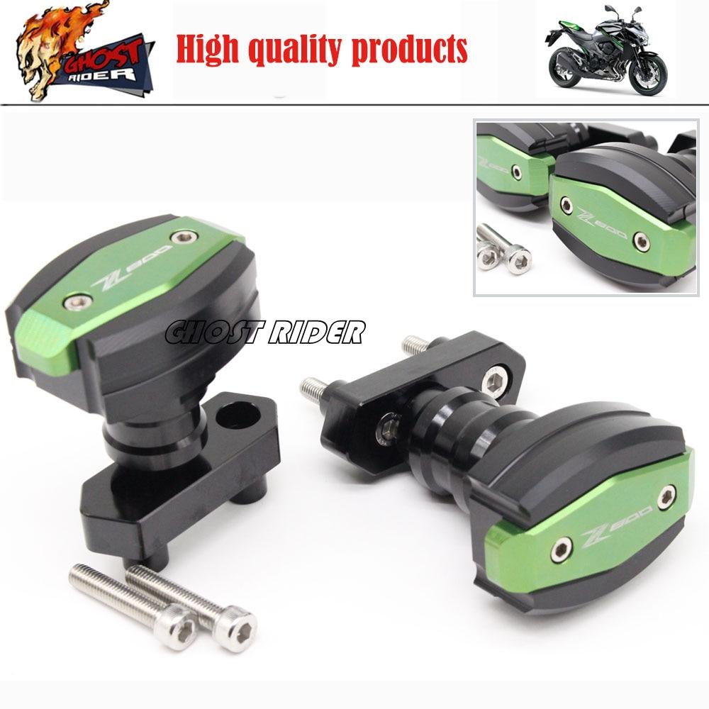 Motorcycle CNC Aluminum Frame Sliders Crash Pads Protector For Kawasaki Z800 2012 2013 2014 2015 Green