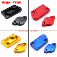 CNC Front And Rear Brake Fluid Reservoir Cover Cap For YZ125/250 2003 2007 YZ250F WR250F WR450 YZ450F Motorcycle Dirt Bike