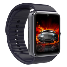 Gt08 notificador de sincronización del reloj inteligente tarjeta de la ayuda sim conectividad bluetooth apple iphone android teléfono inteligente reloj