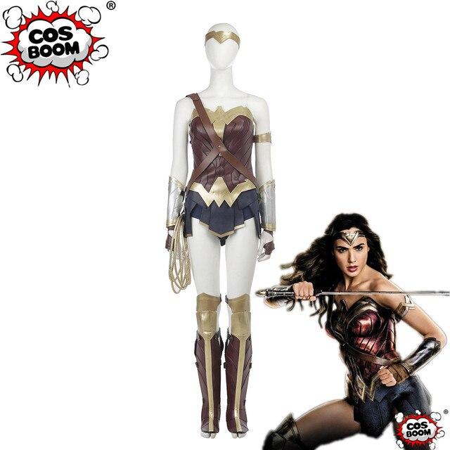 Cosboom Movie Justice League Wonder Woman Costume Custom Made Adult