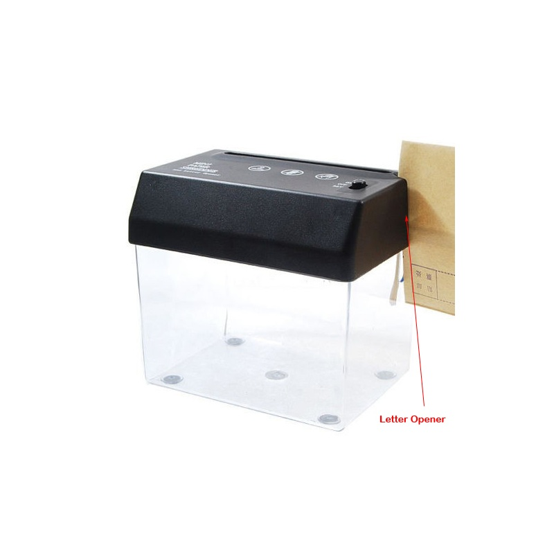 Schoffice Mini Desktop Strip-cut Paper Shredder For Office USB-charge Portable Paper Cutter For A5 A6 With Letters Opener