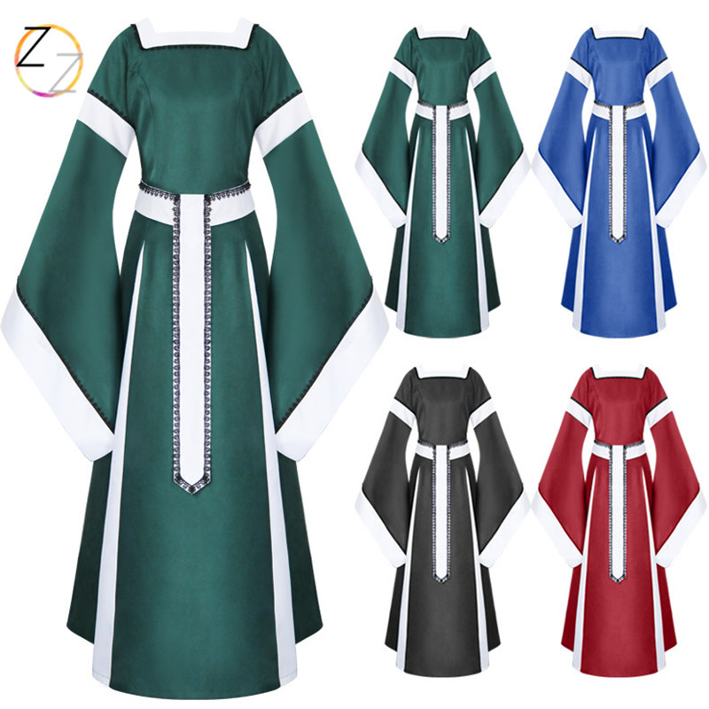 2018 Long Fund The Medieval Times Suit-dress Skirt Lace Skirt Cosplay Clothing Suit-dress
