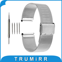 16mm 18mm 20mm 22mm 24mm Milanese Watchband For Armani Watch Band Mesh Stainless Steel Strap Link