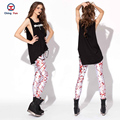 2016 women leggings hot sale white painting printing free size high elastic Lady leisure casual Leggings woman pencil pants