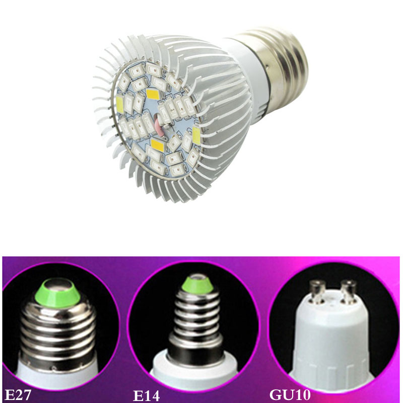 Popular Full Spectrum Led Grow Lights-Buy Cheap Full Spectrum Led ...:New Full spectrum LED Grow lights 28W E27 / E14 LED Grow lamp bulb for  Flower,Lighting