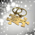 Hand Stamped Couple Keychain Engagement Gift,Autism Puzzle Piece Keychains Jigasw,Anillo De Amistad llavero Keyholder Chaveiro