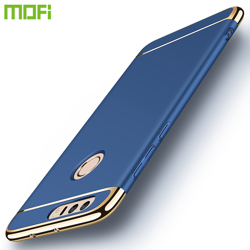 For Huawei Honor 8 Case MOFi Ultra-Thin Plating Anti-Knock Smooth Hard Plastic Protective Phone Case For Huawei Honor 8