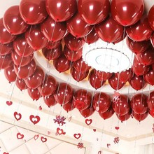 2019 50PCS/lot Red thicken Latex Balloons 10 inch Romantic Foil Oval Balloon For Wedding Valentines Day Birthday Party Decor