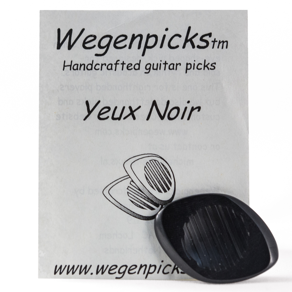 Wegenpicks Yeux Noir (Dark Eye) Acoustic Guitar Pick Available in 2.5mm/3.5mm