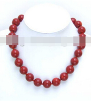 huij 002162 High quality Round NATURAL Red Coral Necklace