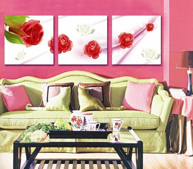 3Panels Living Room Decorative Canvas Painting Modern Huge Picture ...