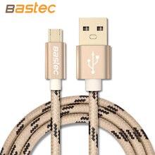 Samsung/sony/xiaomi/huawei bastec устройств плетеный позолоченный провод металлический корпус micro android разъем