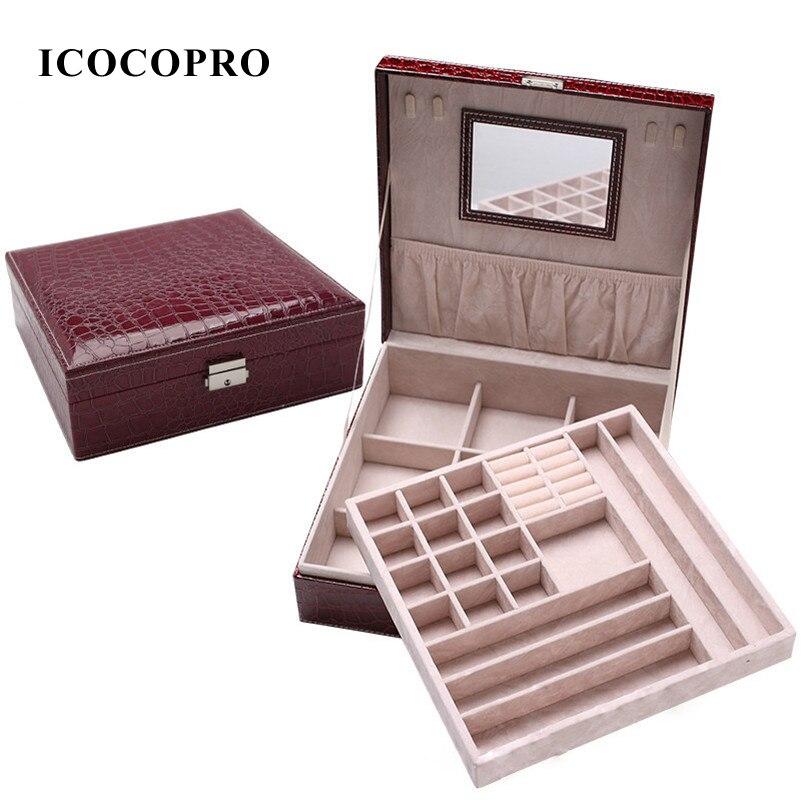 Aliexpresscom Buy ICOCOPRO Jewelry Box Earrings Ring Necklace