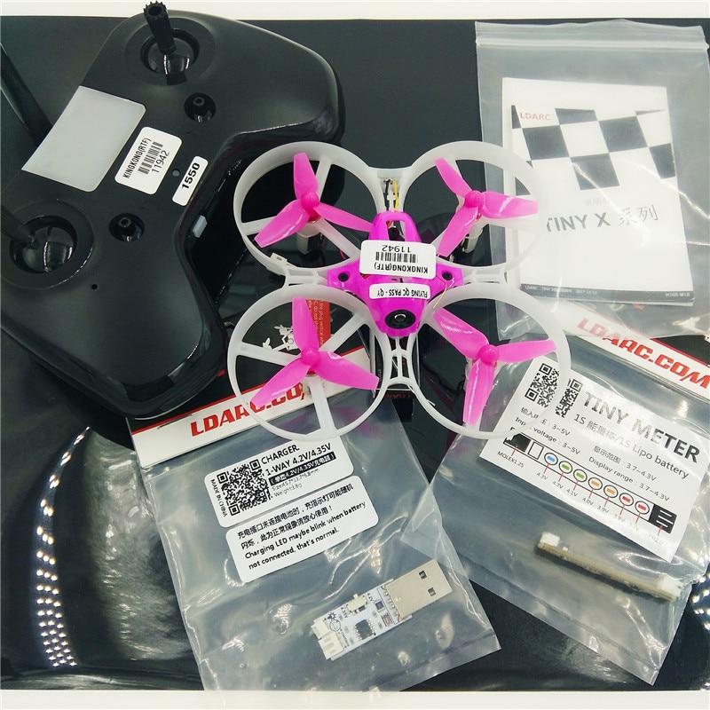 KINGKONG LDARC TINY 8X 85mm Mini FPV Drone w 5.8G Camera 25mW VTX Betaflight F3 Flight Controller 8520 Brushed Motor VS Tiny 6 7 rcmoy uav115 brushless micro fpv racing quadcopter drone f3 flight controll 800tvl vtx 10a esc tiny whoop blade inductrix