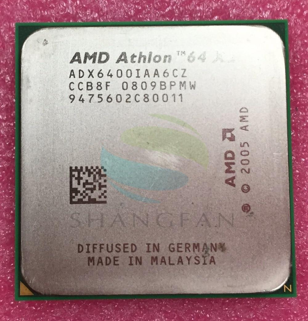 AMD Athlon X2 6400X2 6400 + 3.2 GHz ADX6400IAA6CZ Dual-Core CPU Processeur Socket AM2 940pin