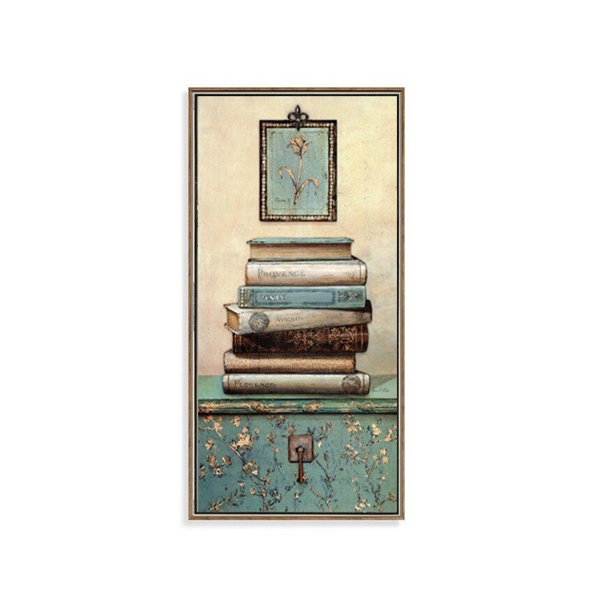 Vintage mrtvačka knjiga Slikarstvo na platnu Zid Umjetnost - Kućni dekor - Foto 6
