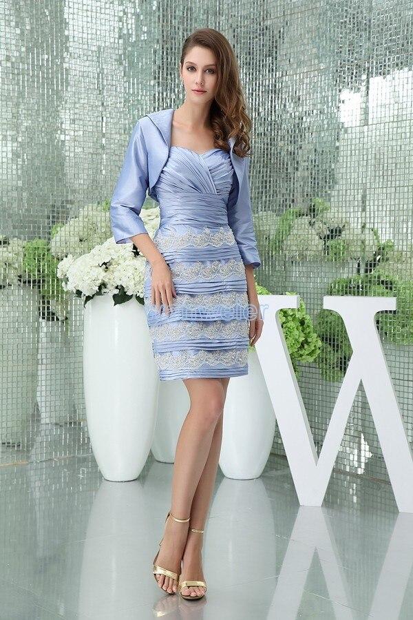 Livraison gratuite 2013 hl robes nouveau design chérie avec veste genou haute manches longues appliques courtes sexy pays robes de bal