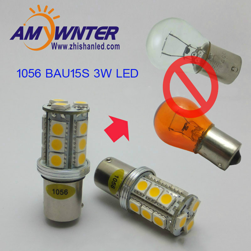 Auto Turn signal PY21W BAU15S S25 3W LED Steering light Car Tail Bulb  Auto Reverse Lamp Daytime Running Light white Yellow 1056 auto bulbs py21w s25 led 3014 smd car tail bulb turn signal auto reverse lamp daytime running light amber white yellow