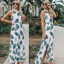 Женское длинное летнее пляжное платье в стиле бохо