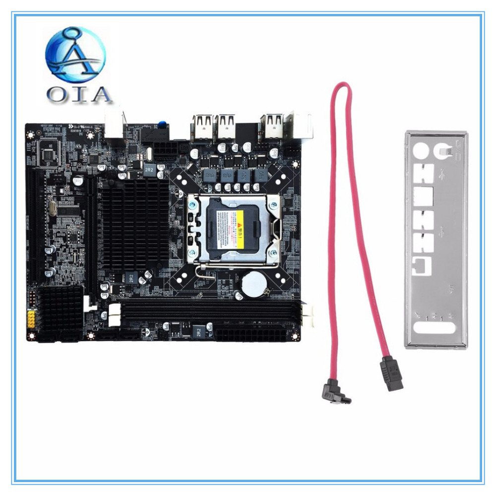 new X58 original motherboard LGA 1366 DDR3 boards 16GB for i3 i5 i7 24PIN power connector Desktop motherborad