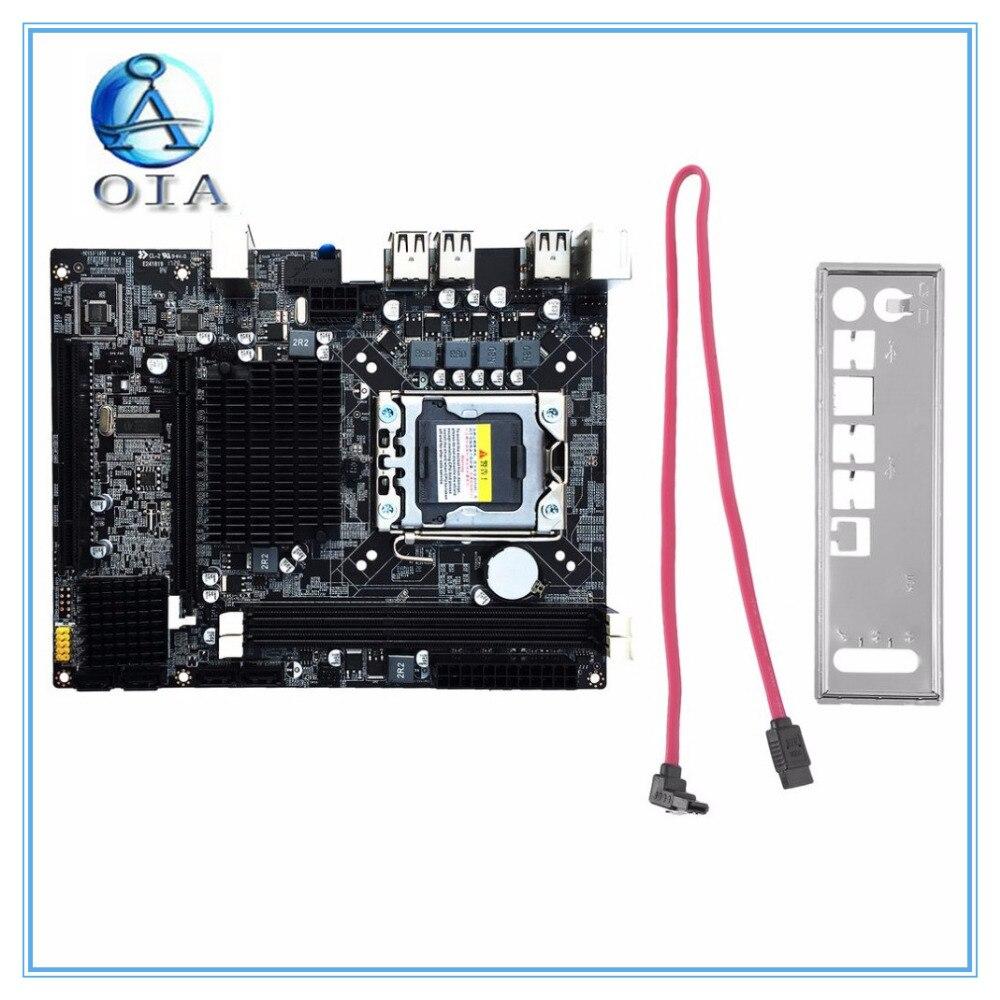 new X58 original motherboard LGA 1366 DDR3 boards 16GB for i3 i5 i7 24PIN power connector Desktop motherborad