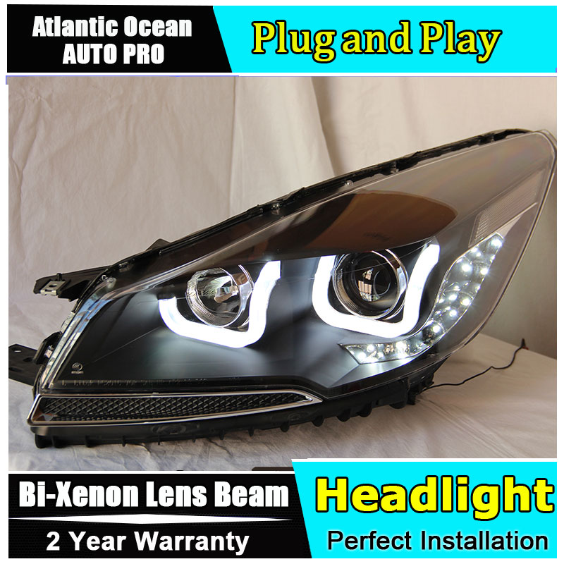 car styling LED Head Lamp for Ford Kuga led headlights 2013-2016 for Escape angel eye drl HID KIT Bi-Xenon Lens low beam auto part style led head lamp for bmw 5 series led headlights for 520li 525li drl h7 hid bi xenon lens angel eye low beam