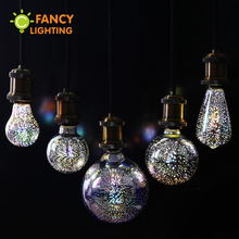 купить Led light bulb e27 led lamp 3D decoration bulb 220v holiday lights st64 g80 g95 novelty lamp christmas decor for home lampada дешево