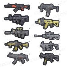 Пистолет штурмовой пистолет снайперская винтовка страйкбол патч-автомат вышитый Пистолет Форма ПВХ Патчи RIFFLE CLUB SOW ARMY BLACK BADGE