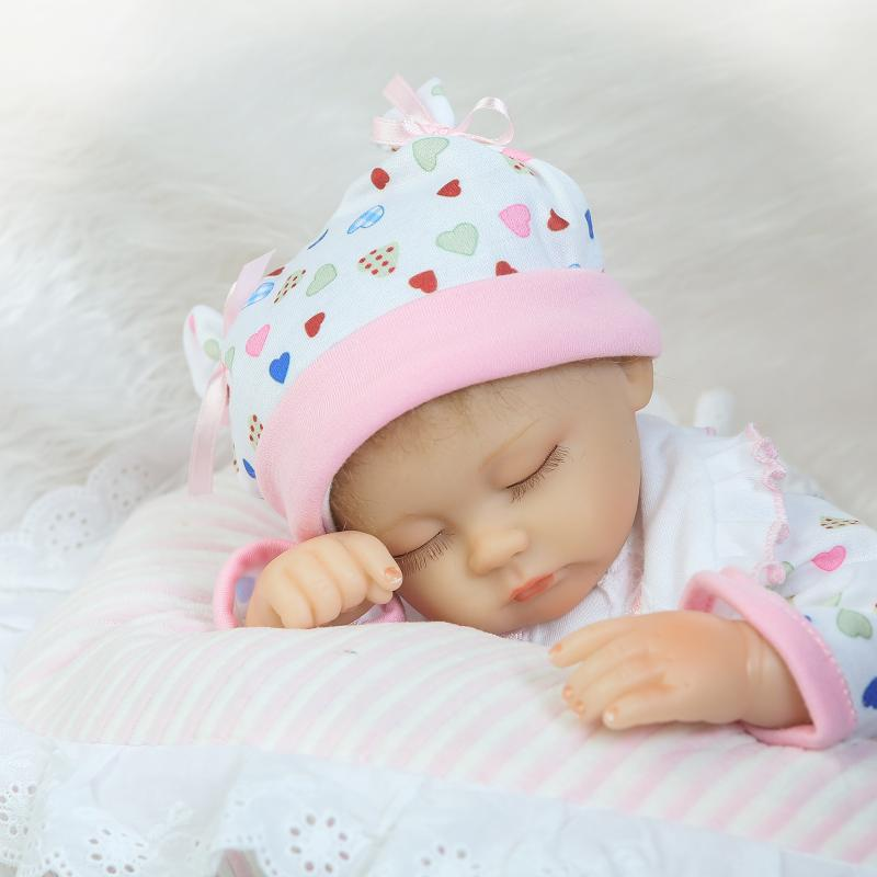 15 Inch Mini Silicone Dolls Reborn Baby Born Doll for Girls Toy Gifts,37CM Real Reborn Babies Bonecas Educational Baby Toys 18 inch dolls handmade bjd doll reborn babies toys for children 45cm jointed plastic toy dolls for girls birthday gifts juguetes