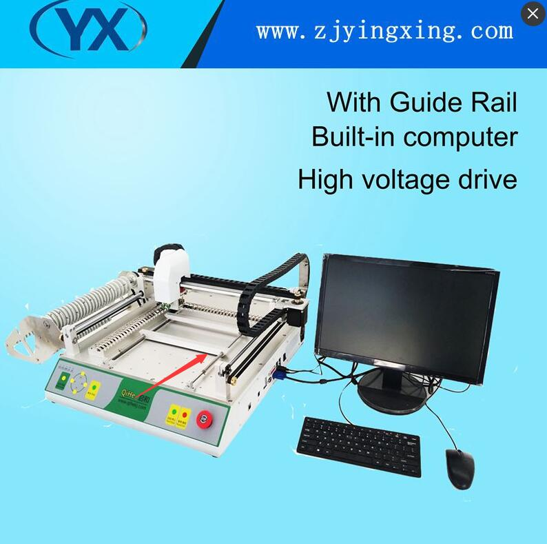 Small Automatic PCB Printing Machine LED Pick and Place Machine LED Light Making Machine with 27 Feeders and Camera