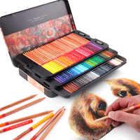 24/36/48/72/100 Цвет s/таблетка деревянный Цветные карандаши профессионалов художник картина маслом для рисования картины маслом Цвет подарочный ...