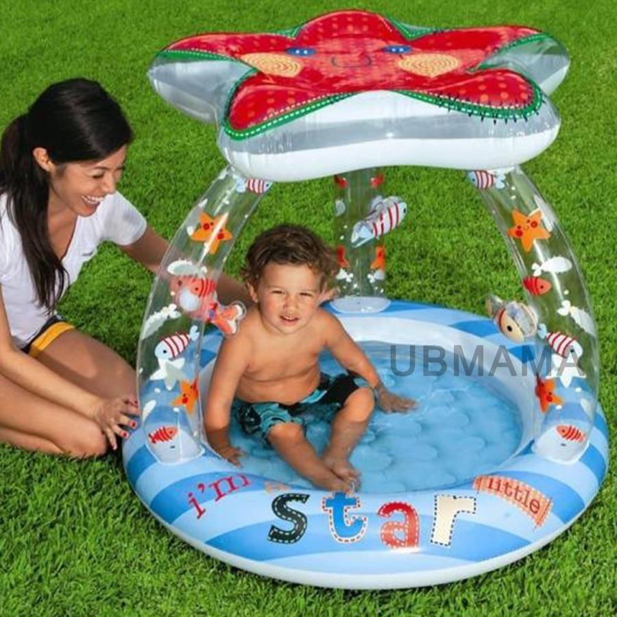 Cute baby starfish sunshade top swimming pool children bath baby sea pool bottom aeration basin starfish
